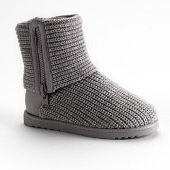 Womens So Gray Ankle Sweater Boots